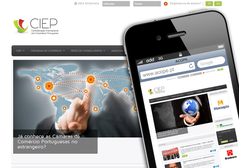 CIEP | Responsive website
